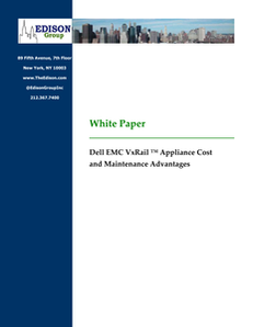 Dell EMC VxRail™ Appliance Cost and Maintenance Advantages