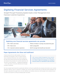 Digitizing Financial Services Agreements