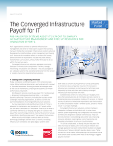 The Converged Infrastructure Payoff for IT
