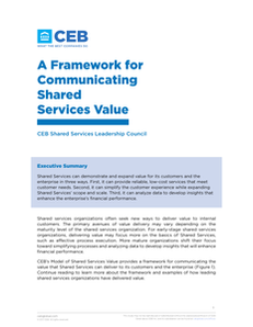 Demonstrating Shared Services Value – Easy as 1,2,3