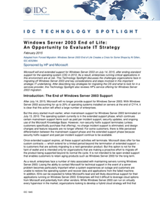 Windows Server 2003 End of Life: An Opportunity to Evaluate IT Strategy
