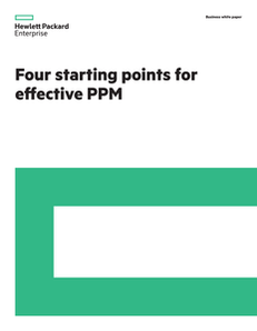 Four Starting Points for Effective PPM