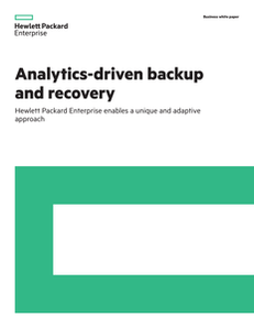 Analytics-Driven Backup and Recovery