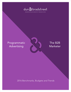 Programmatic & The B2B Marketer: 2016 Benchmarks, Budgets and Trends
