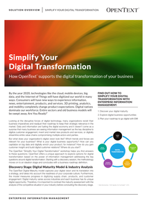 Simplify Your Digital Transformation