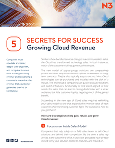 5 Secrets for Success:  Growing Cloud Revenue
