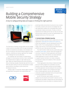 Building a Comprehensive Mobile Security Strategy