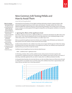 Nine Common A/B Testing Pitfalls and How to Avoid Them