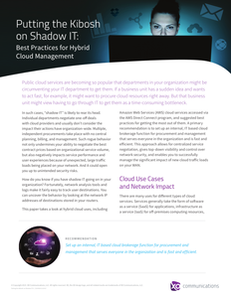Putting the Kibosh on Shadow IT: Best Practices for Hybrid Cloud Management