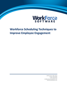 Workforce Scheduling Techniques to Improve Employee Engagement