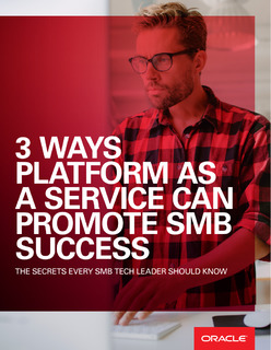 3 Ways Platform as a Service Can Promote SMB Success