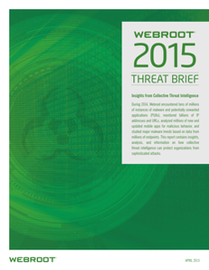 Webroot 2015 Threat Brief