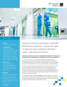 Vblock Systems Enable Local Hospital to Improve Patient Care and Reduce Costs