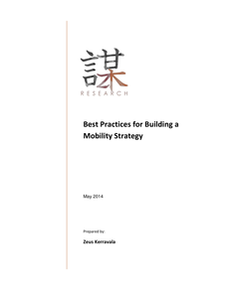 Best Practices for Building a Mobility Strategy