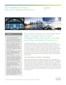 Top 5 Reasons to Deploy Cisco UCS