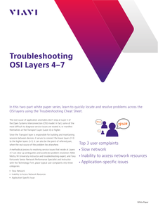 Cheat Sheet: Troubleshooting OSI Layers 4-7