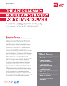 Mobile App Strategy for the Workplace