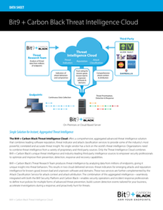 Bit9 + Carbon Black Threat Intelligence Cloud
