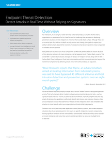 Endpoint Threat Detection – Detect Attacks in Real-time Without Relying on Signatures