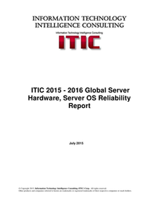 Analyst Report: Global Server Hardware, OS Reliability Report