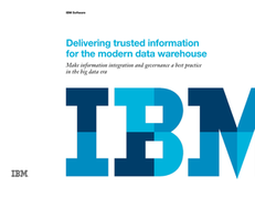 Delivering Trusted Information for the Modern Data Warehouse