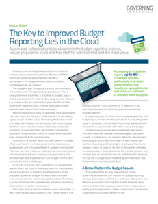 The Key to Improved Budget Reporting Lies in the Cloud