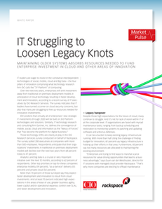 Is Your Legacy IT Choking Innovation?