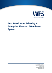 Best Practices for Selecting an Enterprise Time and Attendance System