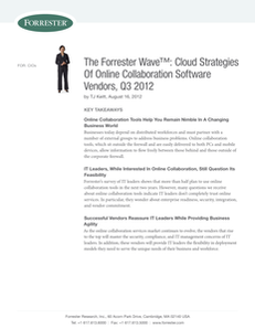 The Forrester Wave: Cloud Strategies of Online Collaboration Software Vendors