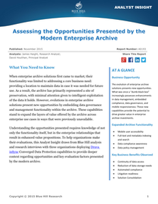 Assessing Opportunities Presented by the Modern Enterprise Archive
