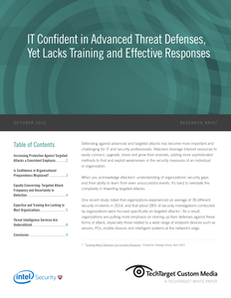 IT Confident in Advanced Threat Defenses, Yet Lacks Training and Effective Responses