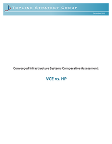 Converged Infrastructure Systems Comparative Assessment: VCE vs. HPE