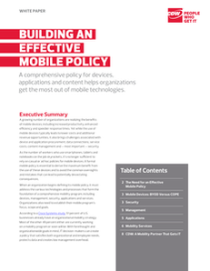 Building an Effective Mobile Policy