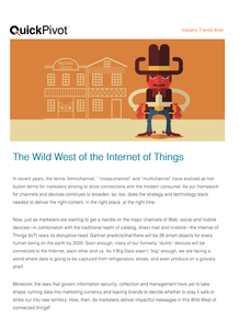 The Wild West of Internet of Things