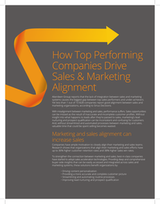 How Top Performing Companies Drive Sales & Marketing Alignment
