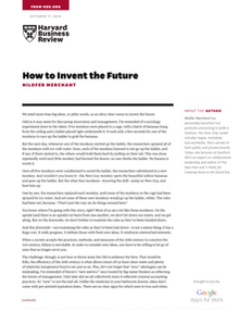 How to Invent the Future: A Perspective by the Harvard Business Review and Google