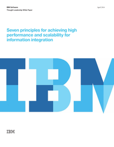 Seven Principles For Achieving High Performance And Scalability For Information Integration