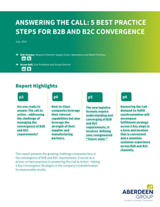 Answering The Call: 5 Best Practice Steps for B2B and B2C Convergence