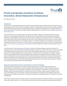 Pivot3 and NexGen Combine to Deliver Innovative, Smart Datacenter Infrastructure