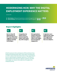 Modernizing HCM: Why the Digital Employment Experience Matters
