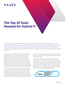 The Top 20 Tools Needed for Hybrid IT