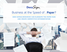 Business at the Speed of…Paper?