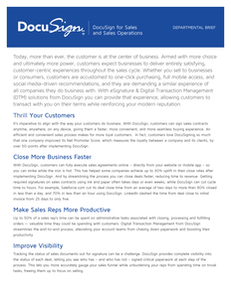 DocuSign for Sales and Sales Operations