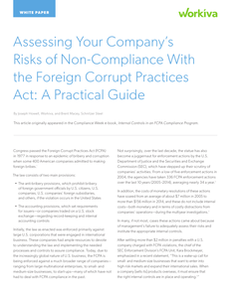 A Practical Guide: Assessing Your Company's Risks of Non-Compliance with the FCPA