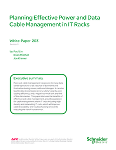 Planning Effective Power and Data Cable Management in IT Racks