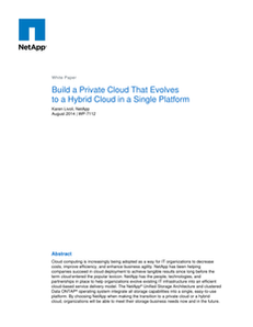 Build a Private Cloud That Evolves to a Hybrid Cloud in a Single Platform