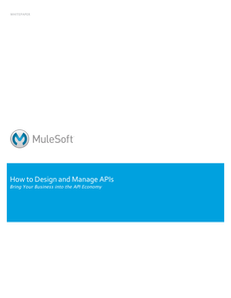 How to Design and Manage APIs