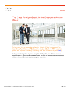 The Case for OpenStack in the Enterprise Private Cloud