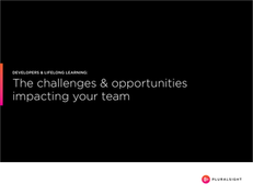 The challenges & opportunities impacting your team – Developers