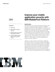 Improve Your Mobile Application Security with IBM MobileFirst Platform